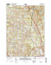 Wilmington Massachusetts Current topographic map, 1:24000 scale, 7.5 X 7.5 Minute, Year 2015 from Massachusetts Maps Store