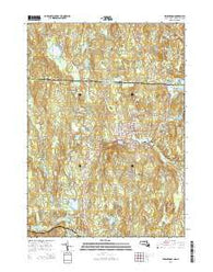 Winchendon Massachusetts Current topographic map, 1:24000 scale, 7.5 X 7.5 Minute, Year 2015