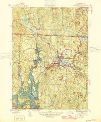 Winchendon Massachusetts Historical topographic map, 1:31680 scale, 7.5 X 7.5 Minute, Year 1946