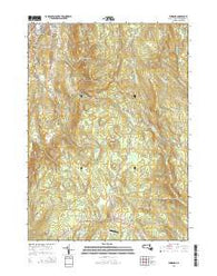 Windsor Massachusetts Current topographic map, 1:24000 scale, 7.5 X 7.5 Minute, Year 2015