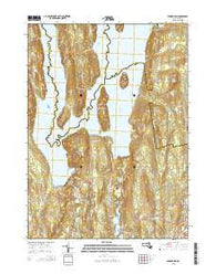 Winsor Dam Massachusetts Current topographic map, 1:24000 scale, 7.5 X 7.5 Minute, Year 2015