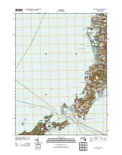 Woods Hole Massachusetts Historical topographic map, 1:24000 scale, 7.5 X 7.5 Minute, Year 2012
