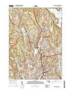 Worcester North Massachusetts Current topographic map, 1:24000 scale, 7.5 X 7.5 Minute, Year 2015 from Massachusetts Map Store