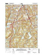 Worcester South Massachusetts Current topographic map, 1:24000 scale, 7.5 X 7.5 Minute, Year 2015 from Massachusetts Map Store