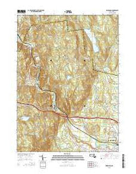 Woronoco Massachusetts Current topographic map, 1:24000 scale, 7.5 X 7.5 Minute, Year 2015