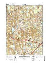 Wrentham Massachusetts Current topographic map, 1:24000 scale, 7.5 X 7.5 Minute, Year 2015