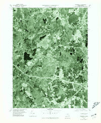 Wrentham Massachusetts Historical topographic map, 1:25000 scale, 7.5 X 7.5 Minute, Year 1977