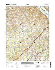 Aberdeen Maryland Historical topographic map, 1:24000 scale, 7.5 X 7.5 Minute, Year 2014