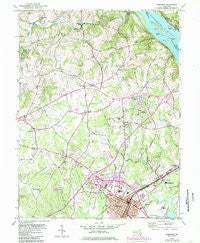 Aberdeen Maryland Historical topographic map, 1:24000 scale, 7.5 X 7.5 Minute, Year 1953