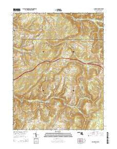 Accident Maryland Historical topographic map, 1:24000 scale, 7.5 X 7.5 Minute, Year 2014