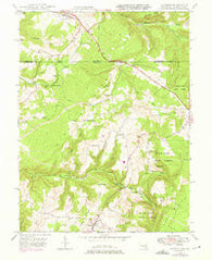 Accident Maryland Historical topographic map, 1:24000 scale, 7.5 X 7.5 Minute, Year 1948