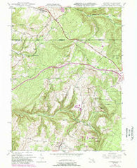 Accident Maryland Historical topographic map, 1:24000 scale, 7.5 X 7.5 Minute, Year 1947