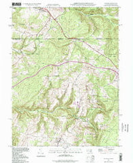 Accident Maryland Historical topographic map, 1:24000 scale, 7.5 X 7.5 Minute, Year 1994