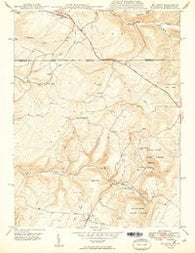 Accident Maryland Historical topographic map, 1:24000 scale, 7.5 X 7.5 Minute, Year 1949