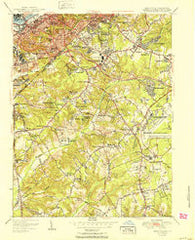 Anacostia District of Columbia Historical topographic map, 1:24000 scale, 7.5 X 7.5 Minute, Year 1951