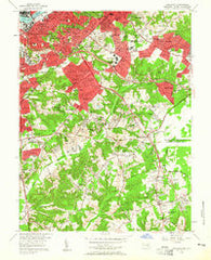 Anacostia District of Columbia Historical topographic map, 1:24000 scale, 7.5 X 7.5 Minute, Year 1956
