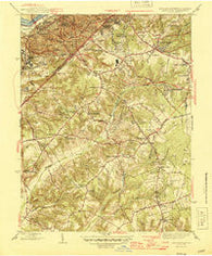 Anacostia District of Columbia Historical topographic map, 1:31680 scale, 7.5 X 7.5 Minute, Year 1945