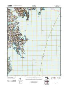 Annapolis Maryland Historical topographic map, 1:24000 scale, 7.5 X 7.5 Minute, Year 2011