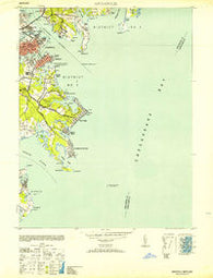 Annapolis Maryland Historical topographic map, 1:24000 scale, 7.5 X 7.5 Minute, Year 1953