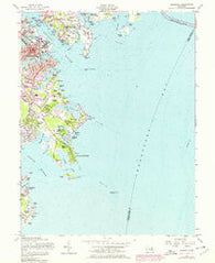 Annapolis Maryland Historical topographic map, 1:24000 scale, 7.5 X 7.5 Minute, Year 1957