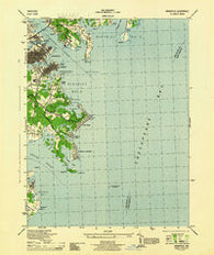 Annapolis Maryland Historical topographic map, 1:31680 scale, 7.5 X 7.5 Minute, Year 1944