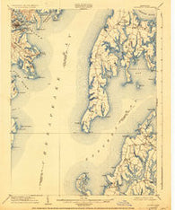 Annapolis Maryland Historical topographic map, 1:62500 scale, 15 X 15 Minute, Year 1904