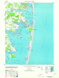 Assawoman Bay Maryland Historical topographic map, 1:24000 scale, 7.5 X 7.5 Minute, Year 1953