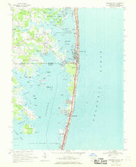 Assawoman Bay Maryland Historical topographic map, 1:24000 scale, 7.5 X 7.5 Minute, Year 1967
