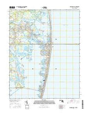 Assawoman Bay Maryland Current topographic map, 1:24000 scale, 7.5 X 7.5 Minute, Year 2016 from Maryland Maps Store