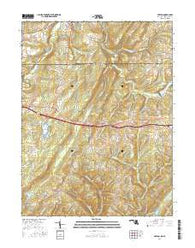 Avilton Maryland Current topographic map, 1:24000 scale, 7.5 X 7.5 Minute, Year 2016