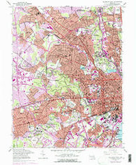 Baltimore West Maryland Historical topographic map, 1:24000 scale, 7.5 X 7.5 Minute, Year 1953