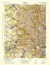 Baltimore West Maryland Historical topographic map, 1:31680 scale, 7.5 X 7.5 Minute, Year 1944