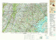 Baltimore Maryland Historical topographic map, 1:250000 scale, 1 X 2 Degree, Year 1989