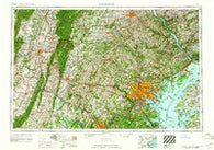 Baltimore Maryland Historical topographic map, 1:250000 scale, 1 X 2 Degree, Year 1961