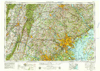 ~ Baltimore MD topo map, 1:250000 scale, 1 X 2 Degree, Historical, 1957,  updated 1979