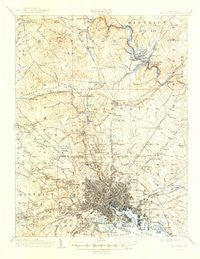 Baltimore Maryland Historical topographic map, 1:62500 scale, 15 X 15 Minute, Year 1904