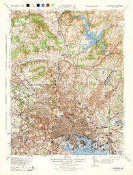 Baltimore Maryland Historical topographic map, 1:62500 scale, 15 X 15 Minute, Year 1944