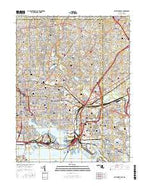 Baltimore East Maryland Current topographic map, 1:24000 scale, 7.5 X 7.5 Minute, Year 2016 from Maryland Map Store