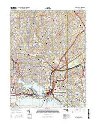 Baltimore East Maryland Current topographic map, 1:24000 scale, 7.5 X 7.5 Minute, Year 2016