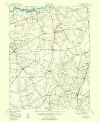 Barclay Maryland Historical topographic map, 1:62500 scale, 15 X 15 Minute, Year 1951