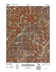 Barton Maryland Historical topographic map, 1:24000 scale, 7.5 X 7.5 Minute, Year 2011