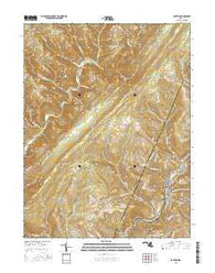 Barton Maryland Current topographic map, 1:24000 scale, 7.5 X 7.5 Minute, Year 2016