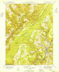 Barton Maryland Historical topographic map, 1:24000 scale, 7.5 X 7.5 Minute, Year 1949