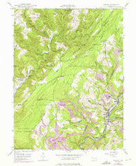 Barton Maryland Historical topographic map, 1:24000 scale, 7.5 X 7.5 Minute, Year 1947