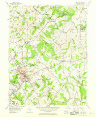 Bel Air Maryland Historical topographic map, 1:24000 scale, 7.5 X 7.5 Minute, Year 1956