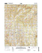 Bel Air Maryland Current topographic map, 1:24000 scale, 7.5 X 7.5 Minute, Year 2016 from Maryland Map Store