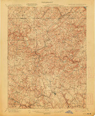 Belair Maryland Historical topographic map, 1:62500 scale, 15 X 15 Minute, Year 1901