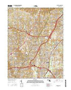 Beltsville Maryland Current topographic map, 1:24000 scale, 7.5 X 7.5 Minute, Year 2016 from Maryland Map Store