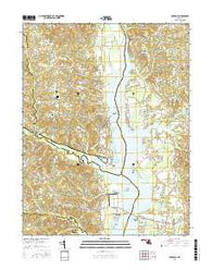 Benedict Maryland Current topographic map, 1:24000 scale, 7.5 X 7.5 Minute, Year 2016