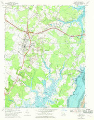 Berlin Maryland Historical topographic map, 1:24000 scale, 7.5 X 7.5 Minute, Year 1967